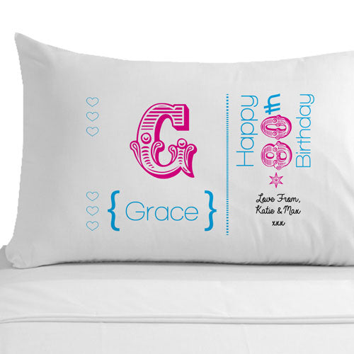 Personalised 80th Birthday Pillowcase, Linens & Bedding by Low Cost Gifts