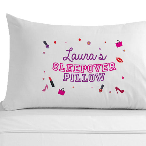 Personalised Girls Sleepover Pillowcase, Linens & Bedding by Low Cost Gifts