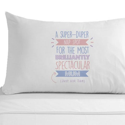 Personalised Super Duper Mum Pillowcase
