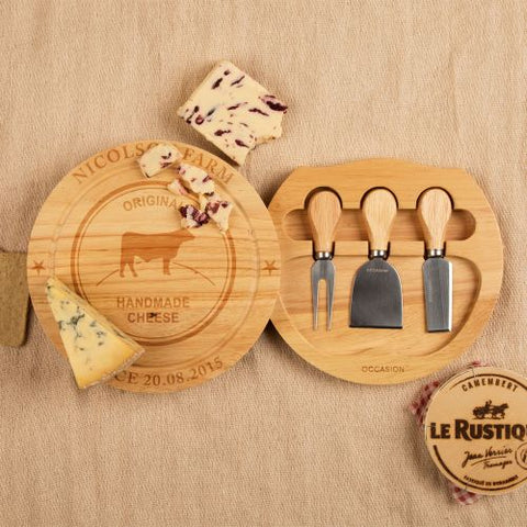Family Name Cheeseboard and Knife Set