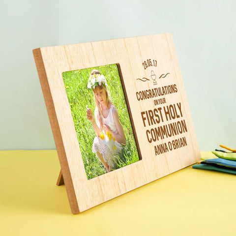 Laser Engraved Wooden Communion Frame | ShaneToddGifts.co.uk