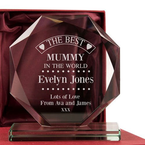 Personalised Best Mum Presentation Gift