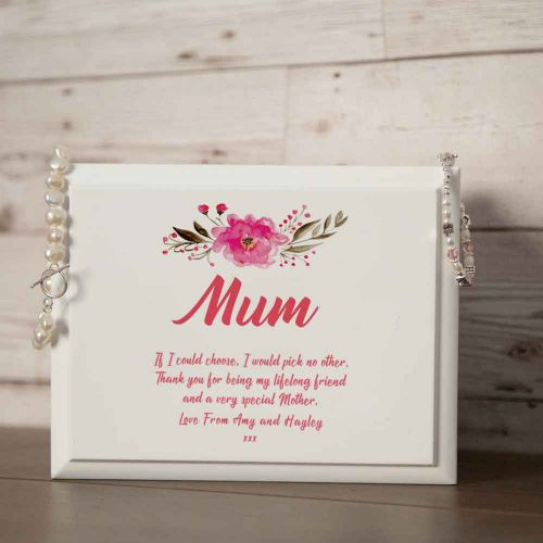 Personalised Lined Jewellery Box Gift Idea for Mum