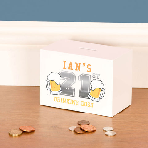 Personalised 21st Birthday Beer Drinking Fund for him