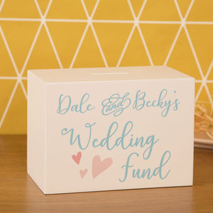 Personalised Wedding Fund Money Box