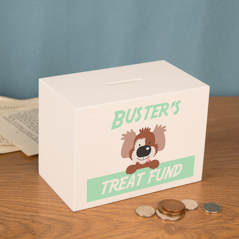 Personalised Dog Treat Money Fund.