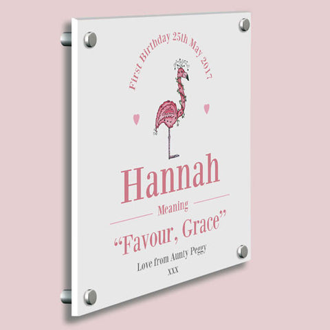 Its a girl new baby girl gifts personalised gifts shane baby girl flamingo name meaning gallery print shane todd gifts uk negle Gallery