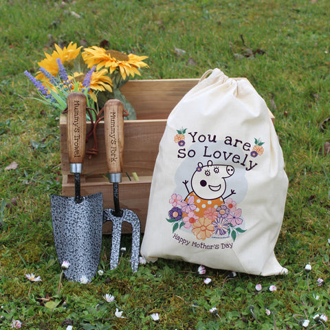 Personalised Peppa Pig™ Mummy Pig Floral Tool Set