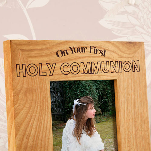 4X6 Personalised Wooden Oak Communion Frame | ShaneToddGifts.co.uk