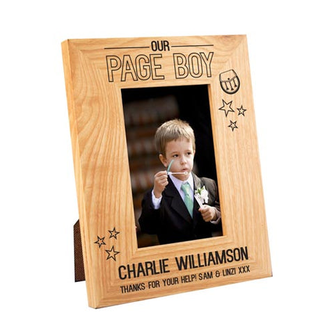 Scottish Page Boy Oak Wooden Oak Frame 4x6 | ShaneToddGifts.co.uk