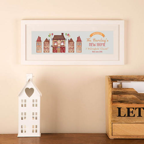 Personalised Illustrated New Home Frame: Watercolour | ShaneToddGifts.co.uk