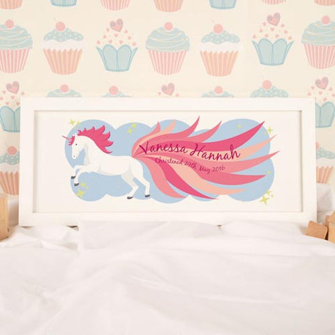 Unicorn Personalised Framed Print | ShaneToddGifts.co.uk