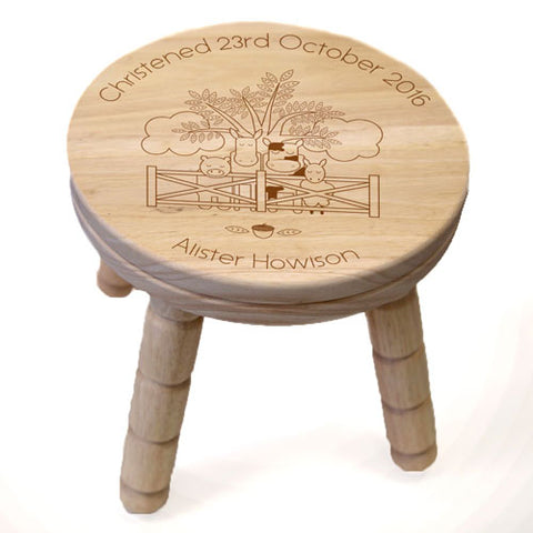 Farmyard Wooden Stool | ShaneToddGifts.co.uk