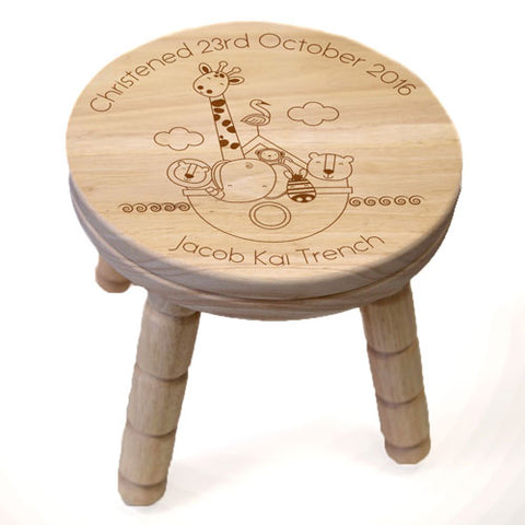 Noahs Ark Wooden Stool | ShaneToddGifts.co.uk