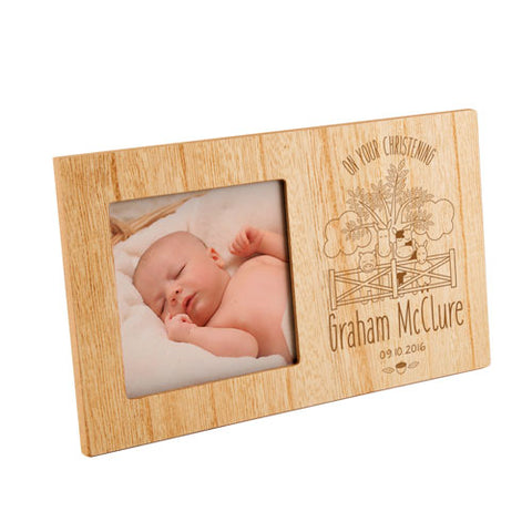 Farmyard Christening Personalised Panel Photo Frame | ShaneToddGifts.co.uk