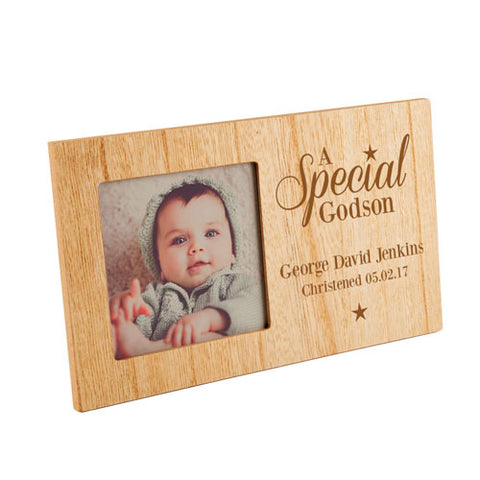 A Special Godson Personalised Panel Photo Frame | ShaneToddGifts.co.uk