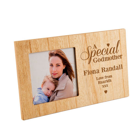A Special GodmotherPersonalised Panel Photo Frame | ShaneToddGifts.co.uk