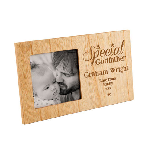 A Special Godfather Personalised Panel Photo Frame | ShaneToddGifts.co.uk