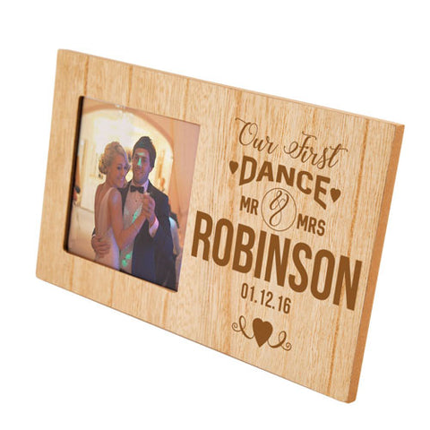 First Dance Wedding Personalised Panel Photo Frame | ShaneToddGifts.co.uk