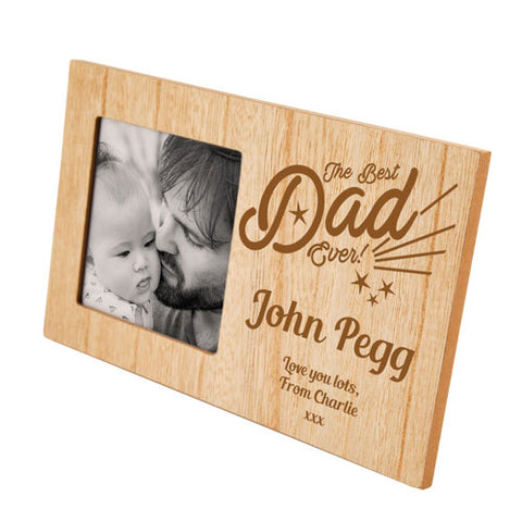 Best Dad Ever Personalised Panel Photo Frame | ShaneToddGifts.co.uk