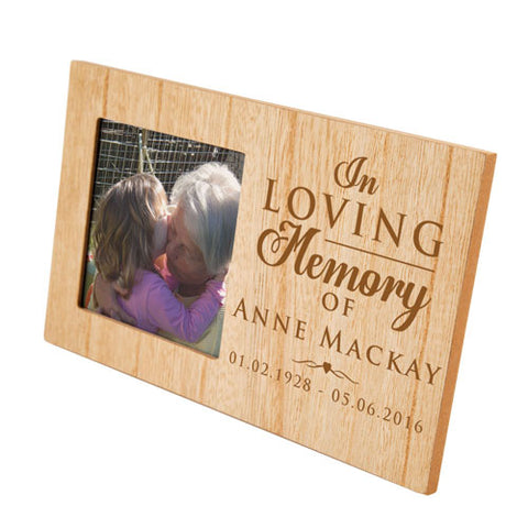In Loving Memory Personalised Panel Photo Frame | ShaneToddGifts.co.uk