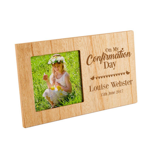 On My Confirmation Personalised Panel Photo Frame | ShaneToddGifts.co.uk