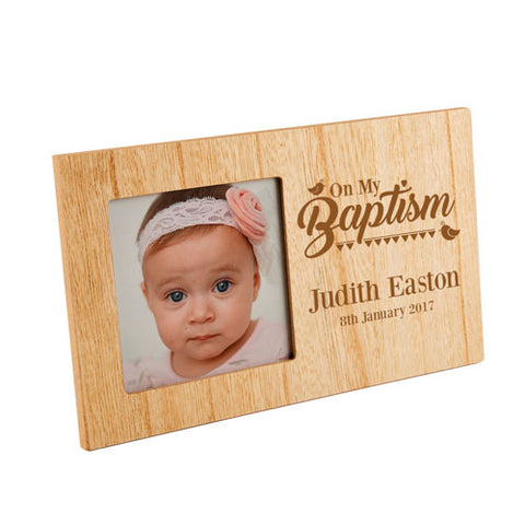 On My Baptism Personalised Panel Photo Frame | ShaneToddGifts.co.uk