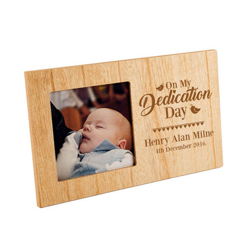 On Your Dedication Day  Personalised Panel Photo Frame | ShaneToddGifts.co.uk