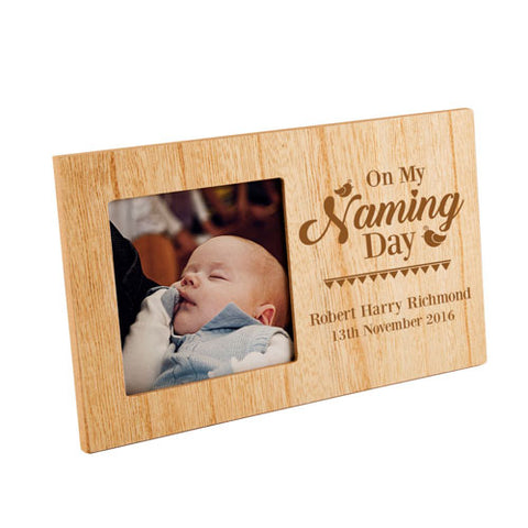 On My Naming Day Personalised Panel Photo Frame | ShaneToddGifts.co.uk