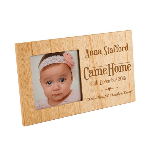 Adoption Panel Photo Personalised Panel Photo Frame, Home & Garden by Low Cost Gifts