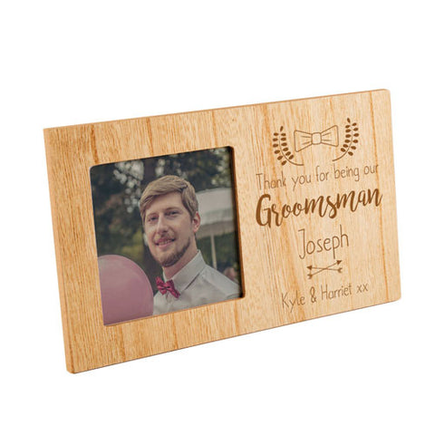 Groomsman Personalised Panel Photo Frame | ShaneToddGifts.co.uk