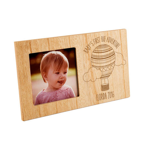 Baby's First Big Adventure Personalised Panel Photo Frame | ShaneToddGifts.co.uk