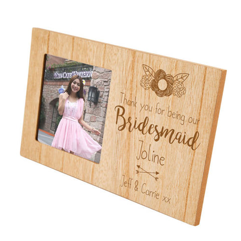 Bridesmaid Personalised Panel Photo Frame