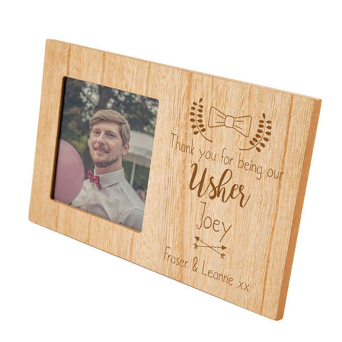 Engraved Usher Personalised Panel Photo Frame | ShaneToddGifts.co.uk