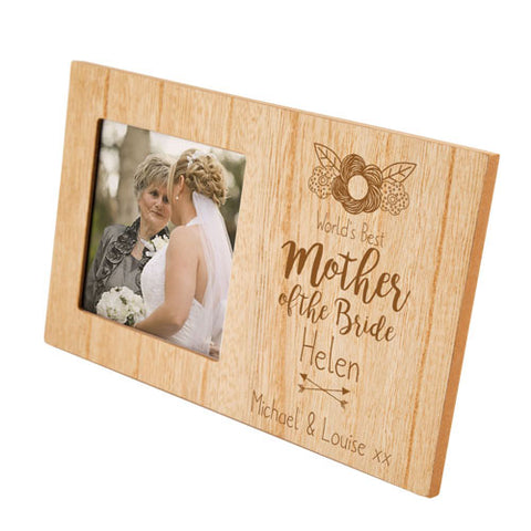 Mother of the Bride Personalised Panel Photo Frame | ShaneToddGifts.co.uk