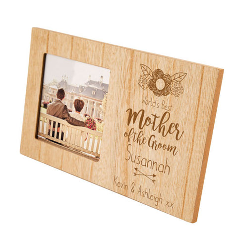 Engraved Mother of the Groom Personalised Panel Photo Frame | ShaneToddGifts.co.uk