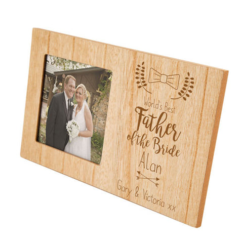 Engraved Father of the BridePersonalised Panel Photo Frame | ShaneToddGifts.co.uk