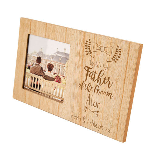 Father of the Groom Personalised Panel Photo Frame