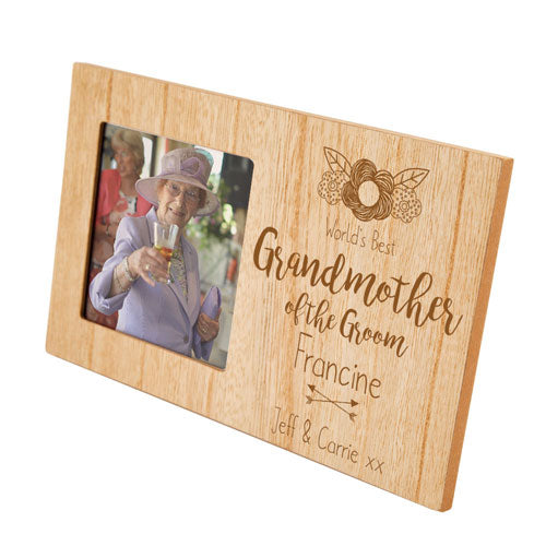 Grandmother of the Groom Personalised Panel Photo Frame