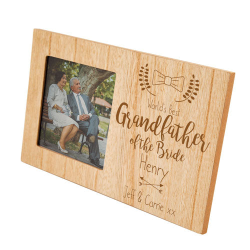 Grandfather of the Bride Personalised Panel Photo Frame, Home & Garden by Low Cost Gifts