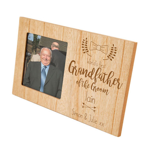 Grandfather of the Groom Personalised Panel Photo Frame