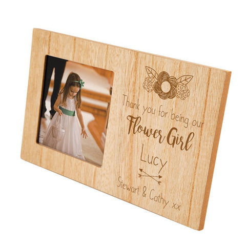 Flower Girl Personalised Panel Photo Frame | ShaneToddGifts.co.uk