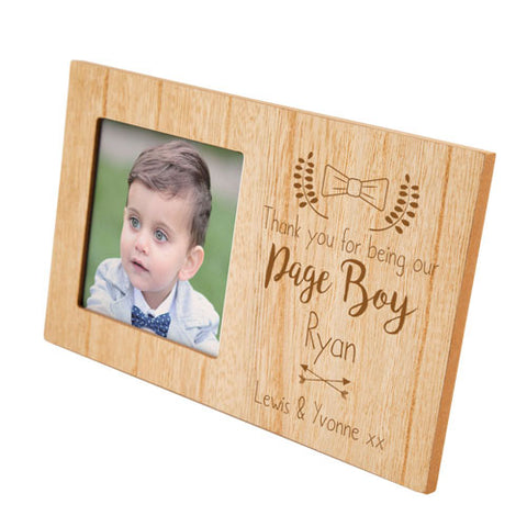 Page Boy Personalised Panel Photo Frame | ShaneToddGifts.co.uk