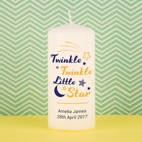 Twinkle Twinkle Little Star Candle | ShaneToddGifts.co.uk