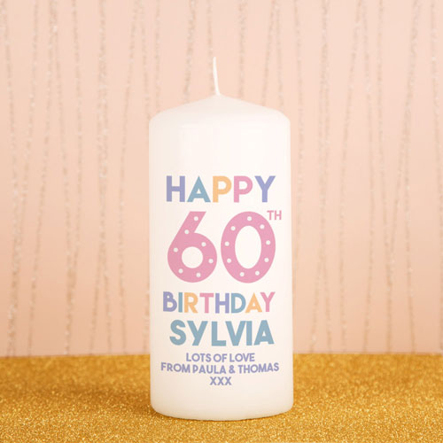60th Birthday Candle