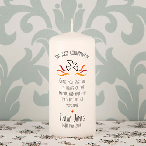 Confirmation Printed Candle - Shane Todd Gifts UK