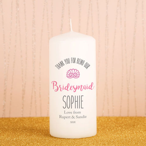 Bridesmaid Printed Candle