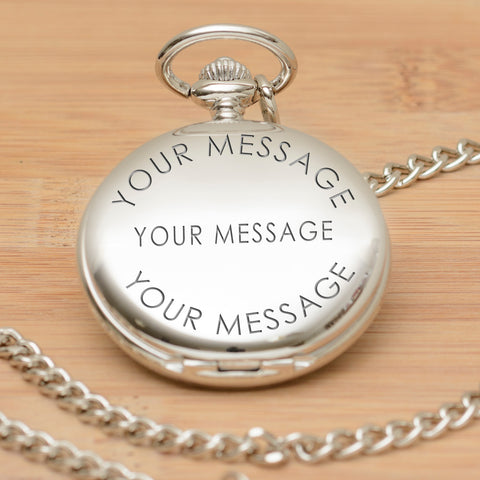 Personalised Pocket Watch - Meet me at the altar