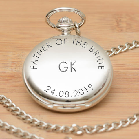 Personalised Pocket Watch - Wedding Party Role