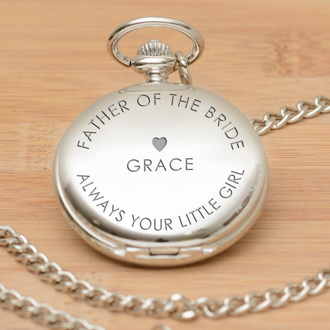 Personalised Pocket Watch - Always your little girl